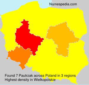 Surname Pautrzak in Poland