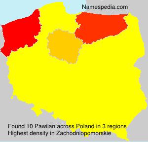 Familiennamen Pawilan - Poland