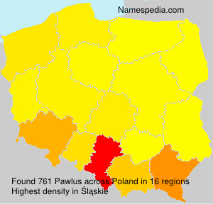 Surname Pawlus in Poland
