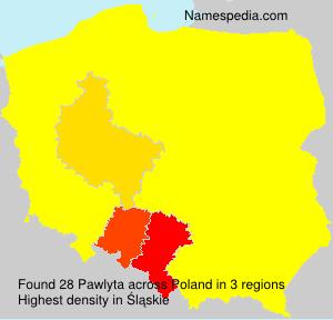 Surname Pawlyta in Poland