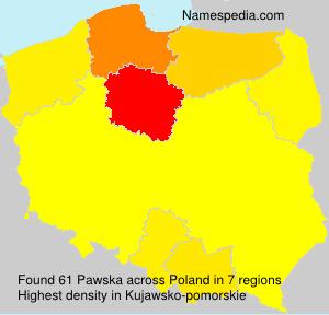 Surname Pawska in Poland