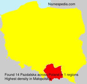 Surname Pazdalska in Poland