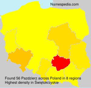 Surname Pazdzierz in Poland