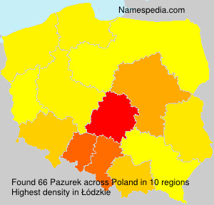 Surname Pazurek in Poland