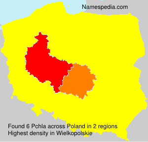 Surname Pchla in Poland