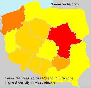 Surname Peas in Poland