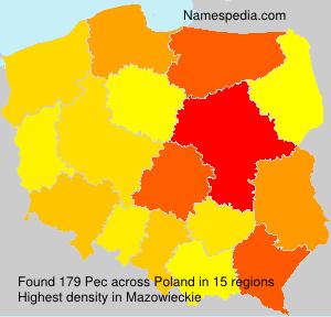 Familiennamen Pec - Poland
