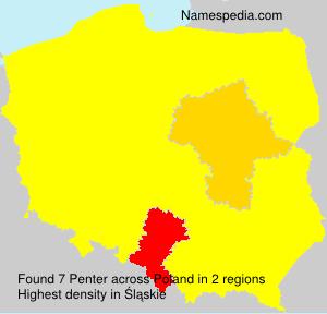Surname Penter in Poland