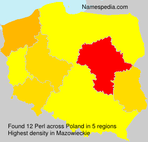 Surname Perl in Poland