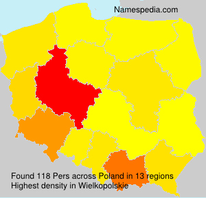 Surname Pers in Poland