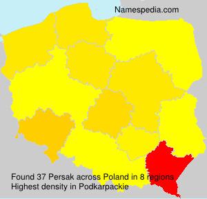 Familiennamen Persak - Poland