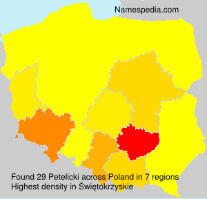 Surname Petelicki in Poland