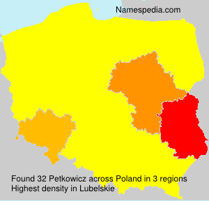 Surname Petkowicz in Poland