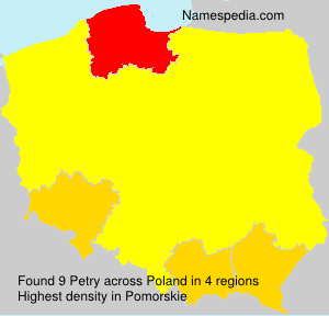 Surname Petry in Poland