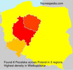 Surname Pezalska in Poland