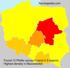 Surname Pfeffer in Poland