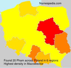Familiennamen Pham - Poland