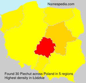 Surname Piechut in Poland