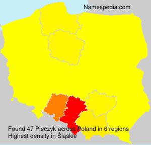 Surname Pieczyk in Poland