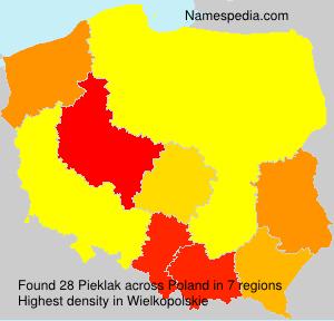 Surname Pieklak in Poland