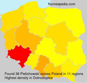 Surname Pielichowski in Poland