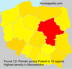 Surname Pieniek in Poland