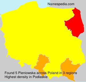 Surname Pieniowska in Poland