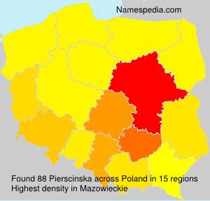 Surname Pierscinska in Poland