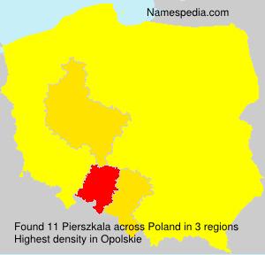 Surname Pierszkala in Poland