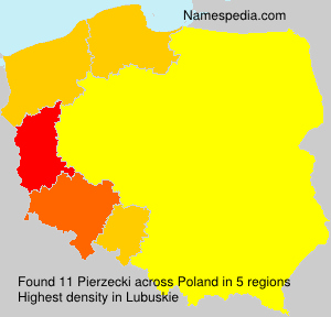 Surname Pierzecki in Poland