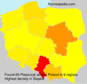 Surname Pieszczyk in Poland