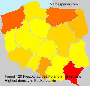 Surname Pieszko in Poland