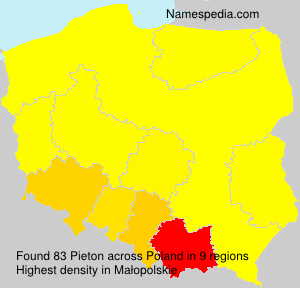 Surname Pieton in Poland