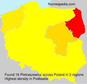 Surname Pietraszewicz in Poland