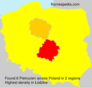 Surname Pietrucien in Poland