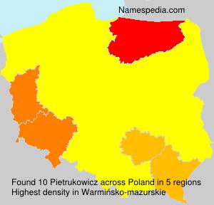 Surname Pietrukowicz in Poland