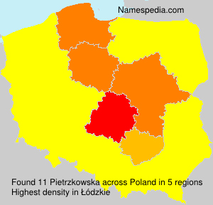 Surname Pietrzkowska in Poland