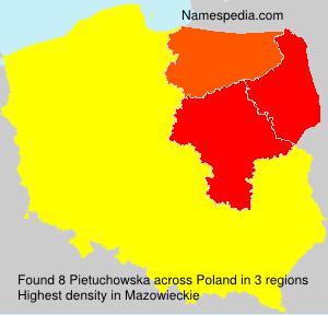 Surname Pietuchowska in Poland