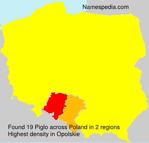 Surname Piglo in Poland