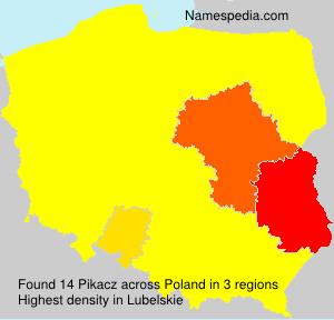 Surname Pikacz in Poland