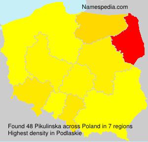 Surname Pikulinska in Poland