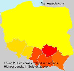Surname Pila in Poland