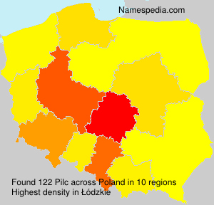 Surname Pilc in Poland