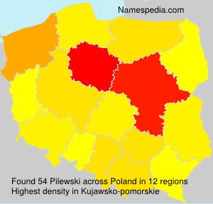 Surname Pilewski in Poland
