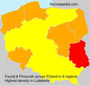 Surname Pinciurek in Poland