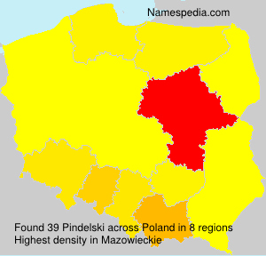 Surname Pindelski in Poland