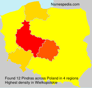 Surname Pindras in Poland