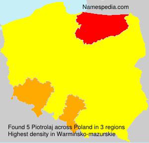 Familiennamen Piotrolaj - Poland