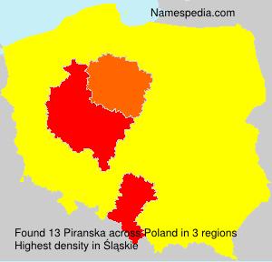 Familiennamen Piranska - Poland