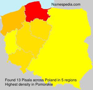 Surname Pisala in Poland